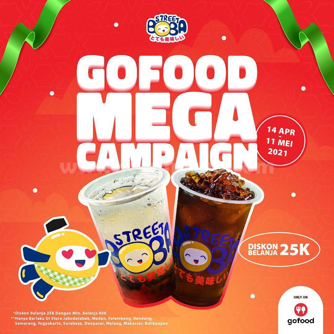 Promo STREET BOBA GOFOOD MEGA CAMPAIGN Diskon 25K