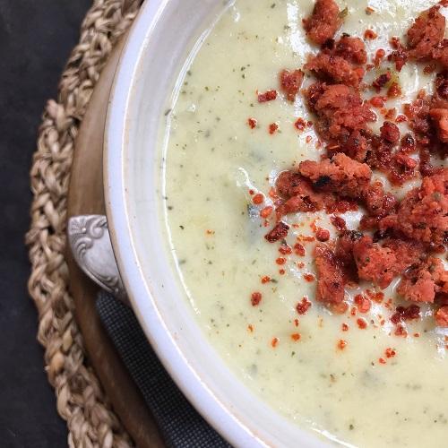 Zucchini-Lauch-Cremesuppe