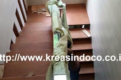 Pemasangan trap kayu kamper di tambun bekasi rumah bapak Nurbajaya
