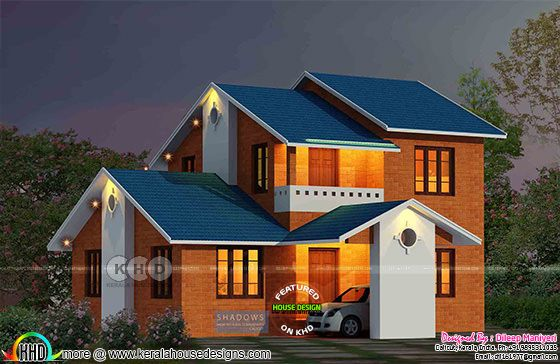 Semi contemporary style house plan