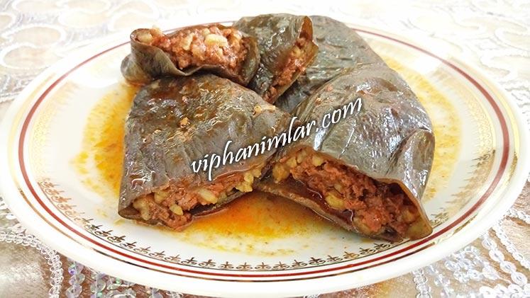 Etli Kuru Patlıcan Dolması Tarifi - www.viphanimlar.com
