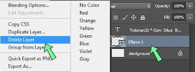 Cara menghapus layer atau pekerjaan photoshop