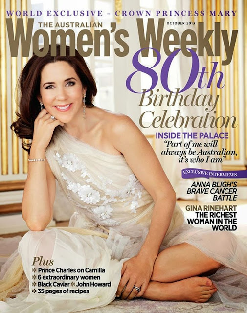 Crown Princess Mary on the cover of the 80th birthday issue of Women's Weekly