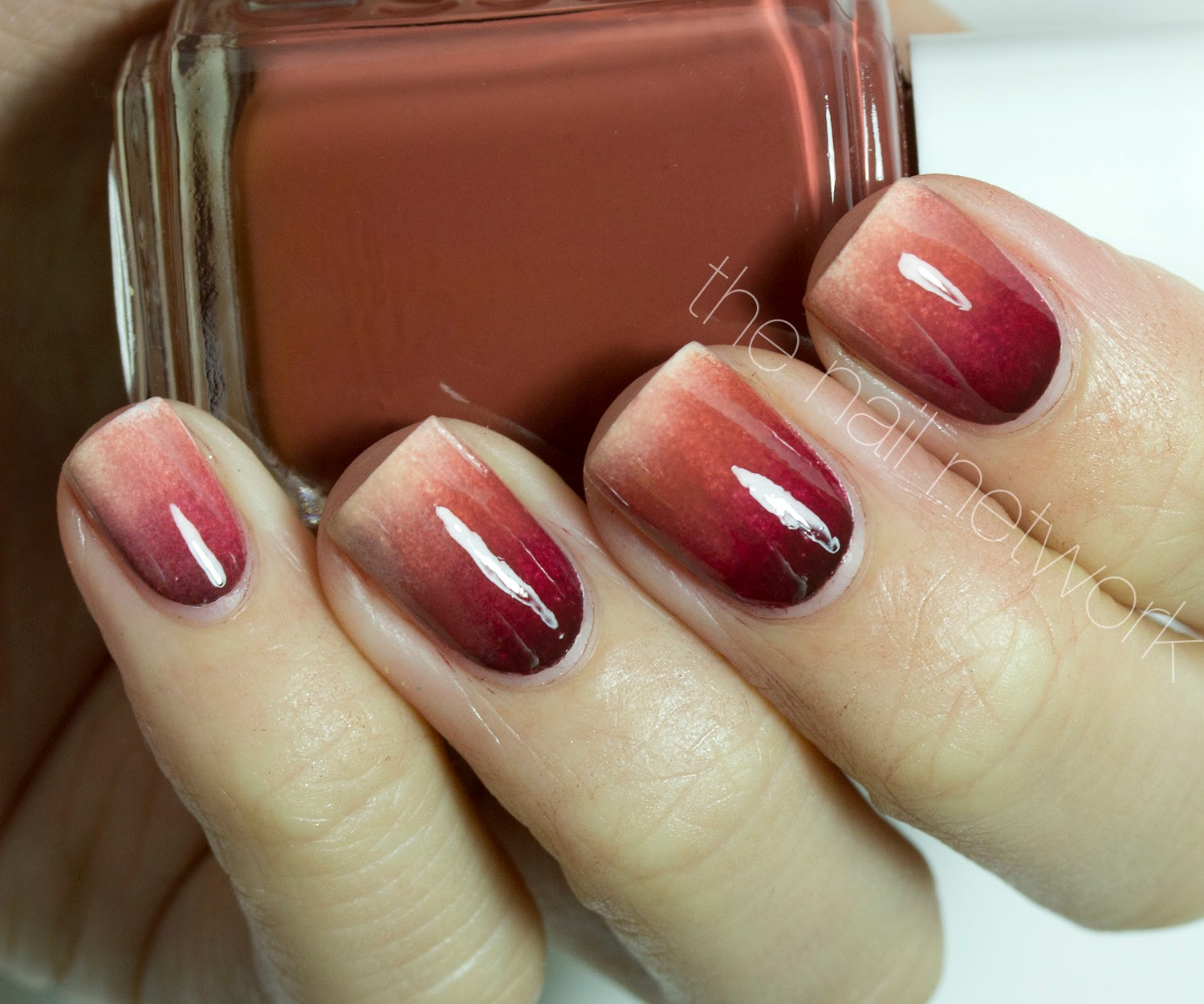 Gradient Nail Art: Happy Thanksgiving Feather Gradient Nail Art!