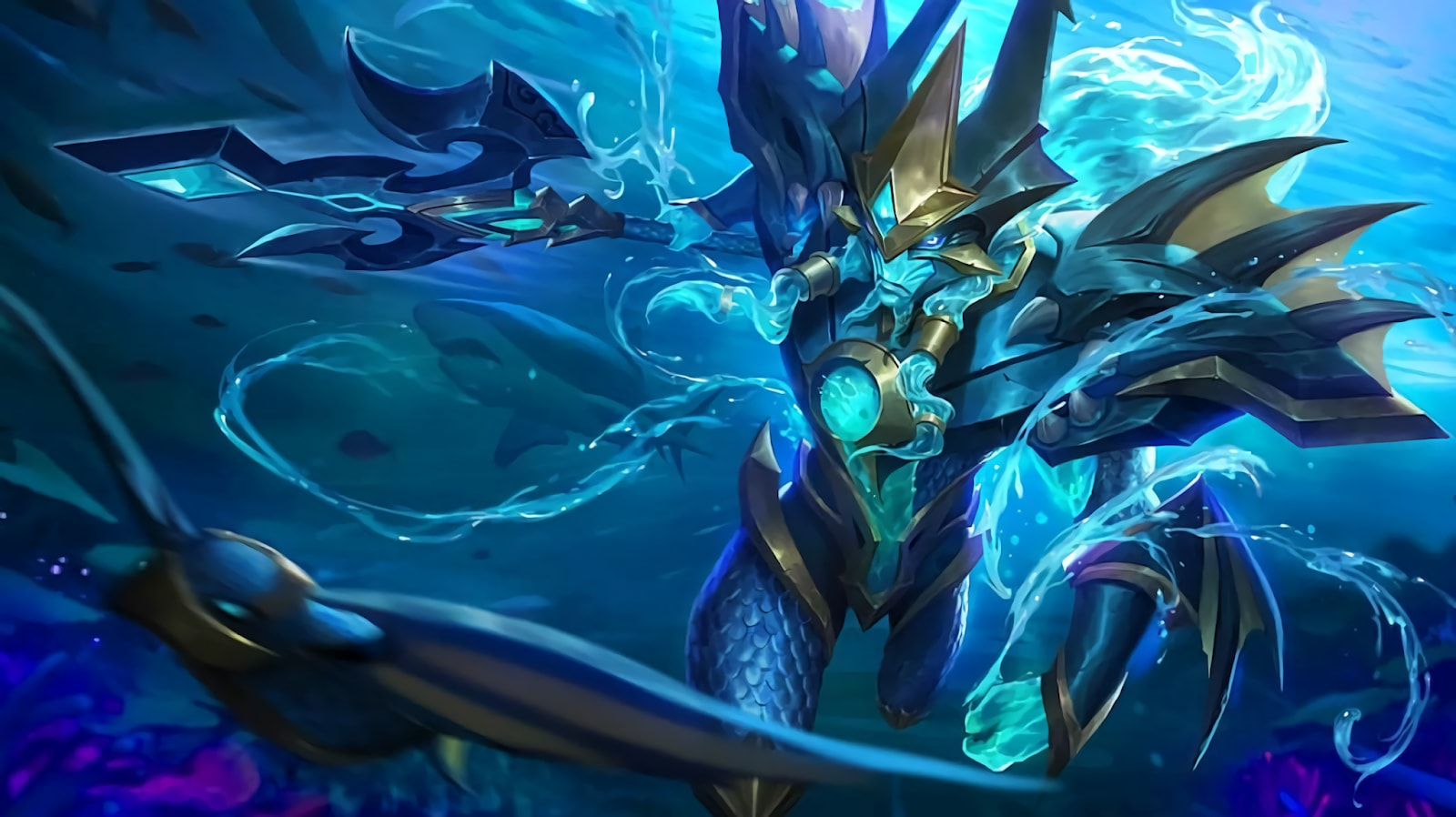Wallpaper Alpha Sea Gladiator Skin Mobile Legends Full HD for PC