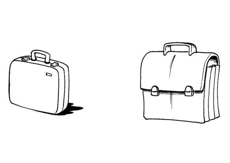 Los dibujos para colorear : Dibujos de maletas para colorear