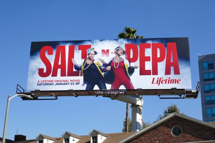 Salt N Pepa Lifetime film billboard