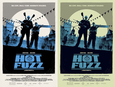 Hot Fuzz Movie Poster Screen Print by Matt Ferguson x Vice Press