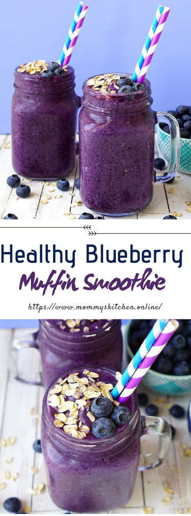 Healthy Blueberry Muffin #Smoothie #freshdrinks