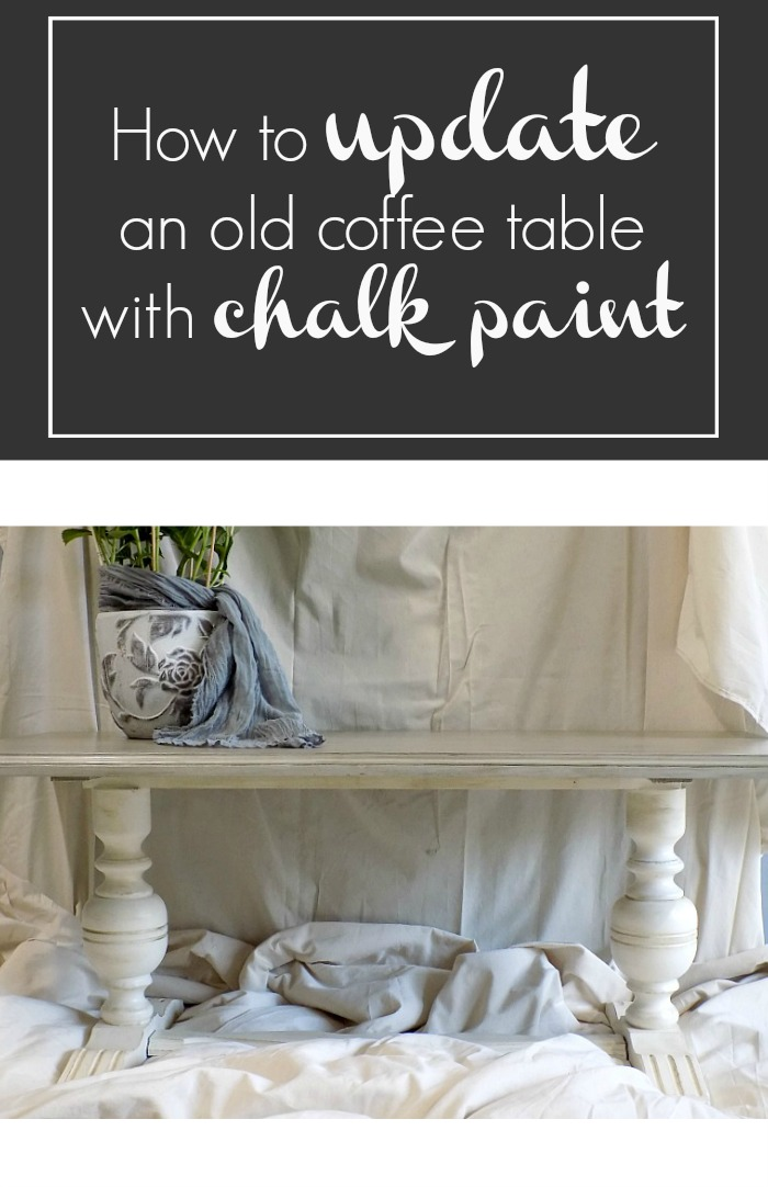How to update an old coffee table with chalk paint