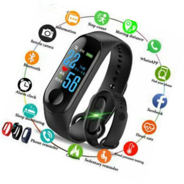 M3 Smart Band Fitness Tracker Watch
