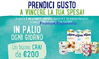 Logo Alpro ''Prendici gusto a vincere la tua spesa'': 11 buoni spesa Crai da 200 euro