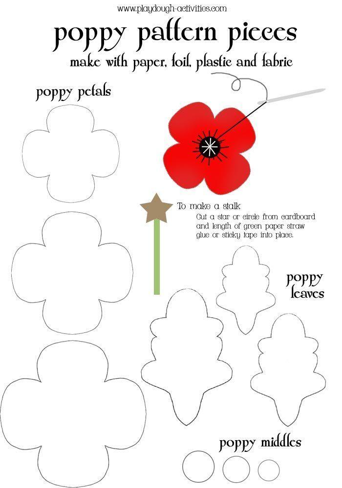 Poppy Svg : poppy, Remembrance, Poppy, Templates,, Tutorials,