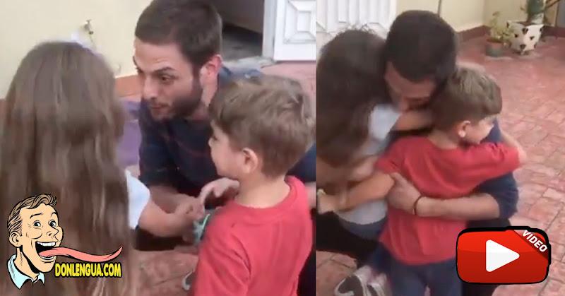 CONMOVEDOR | Tras muchos meses Juan Requesens se encontró con sus dos hijos pequeños