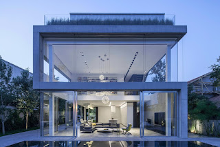 Contemporary Concrete and Glass House