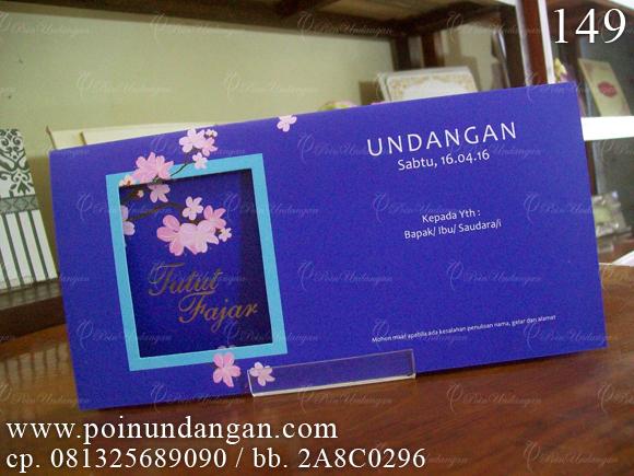 undangan pernikahan biru bunga sakura softcover semarang