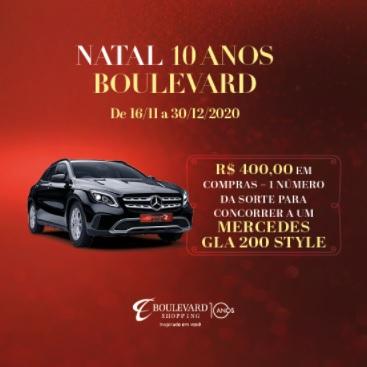 Cadastrar Promoção Boulevard Shopping BH Natal 2020 Mercedes GLA 200 Style