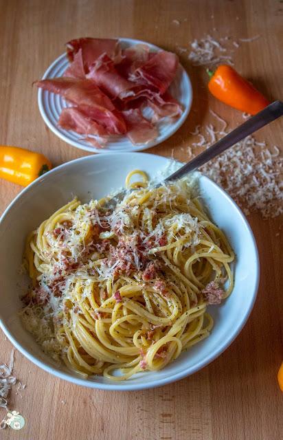 Pasta mit San Daniele - Schinken