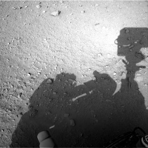 A figure like a man shadow seen near Curiosity