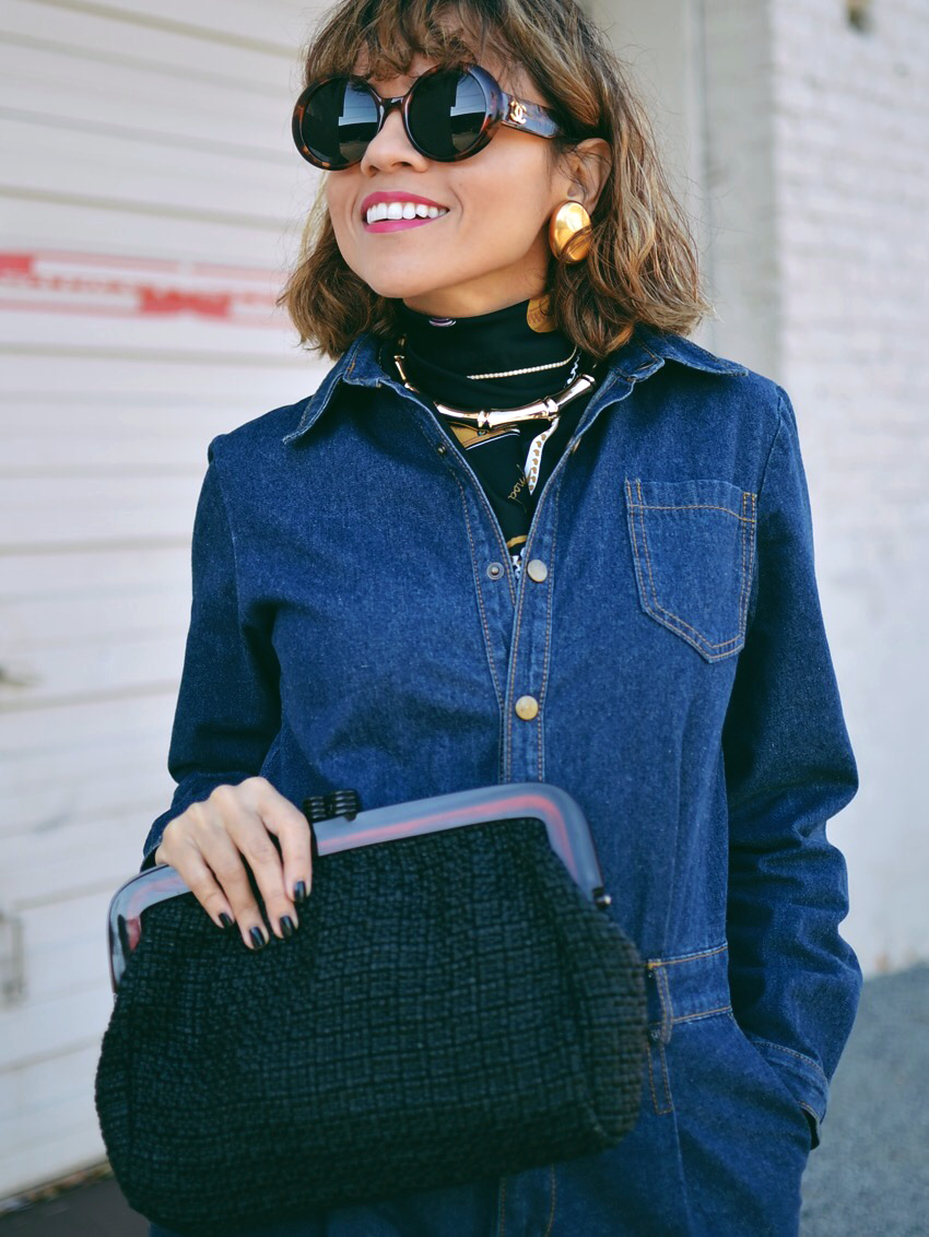 Necklace Over Scarf Look
