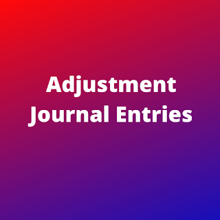 adjustment journal entries