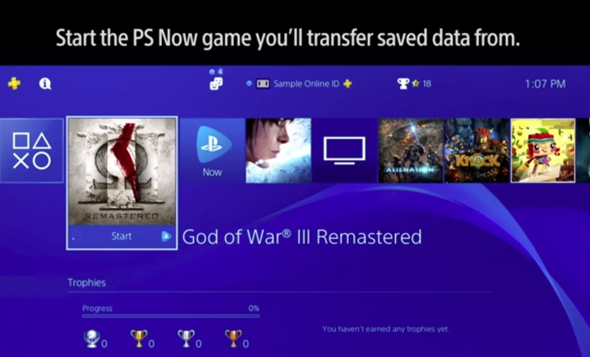 How to Transferring Saved Data from PS Now to Your PlayStation4 System