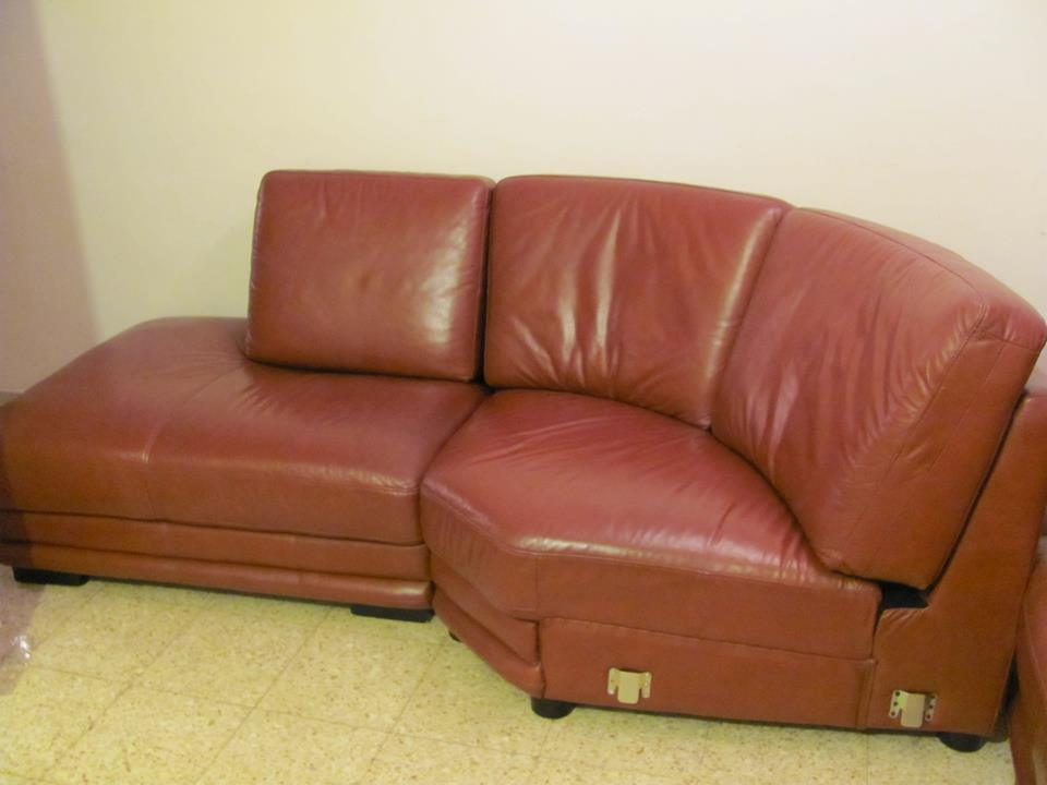 Sold Black Italian Leather Sofa Beautiful Cly And Super Comfortable Its Sits High Provides Excellent Back Support 1900 Shekel Or Best Offer