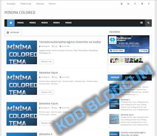 Minima Colored Blogger Teması Türkçe