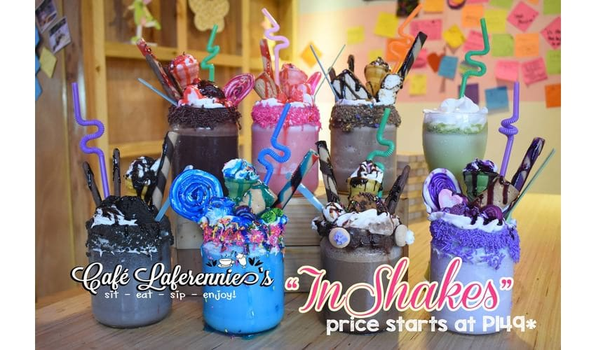 Unique shakes at Cafe Laferennie