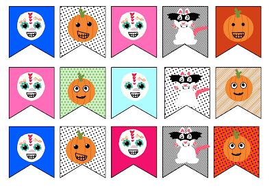 hallowen día de muertos: Imprimibles