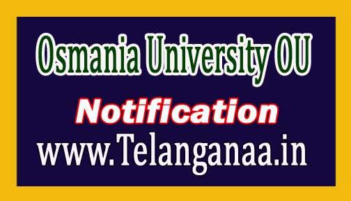 Osmania University (OU)MBA III Sem Examination Fee Notification 2016 Download
