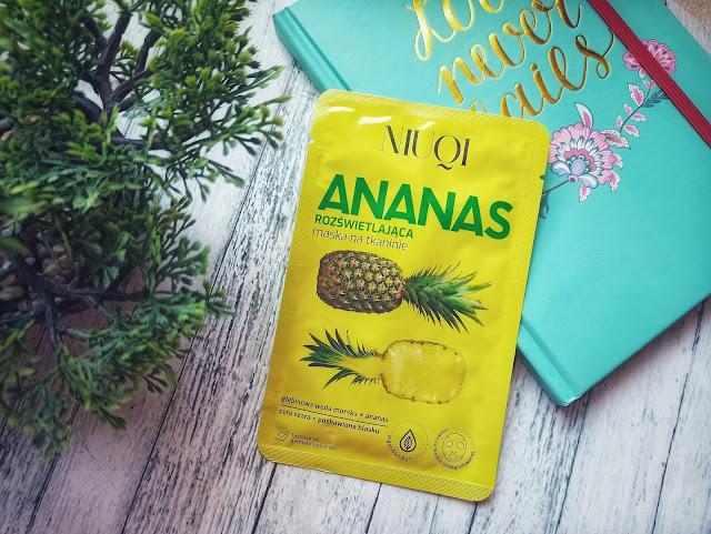 Ale zapach!! - Opinia #46: Niuqi, Rozświetlająca maska na tkaninie `Ananas`