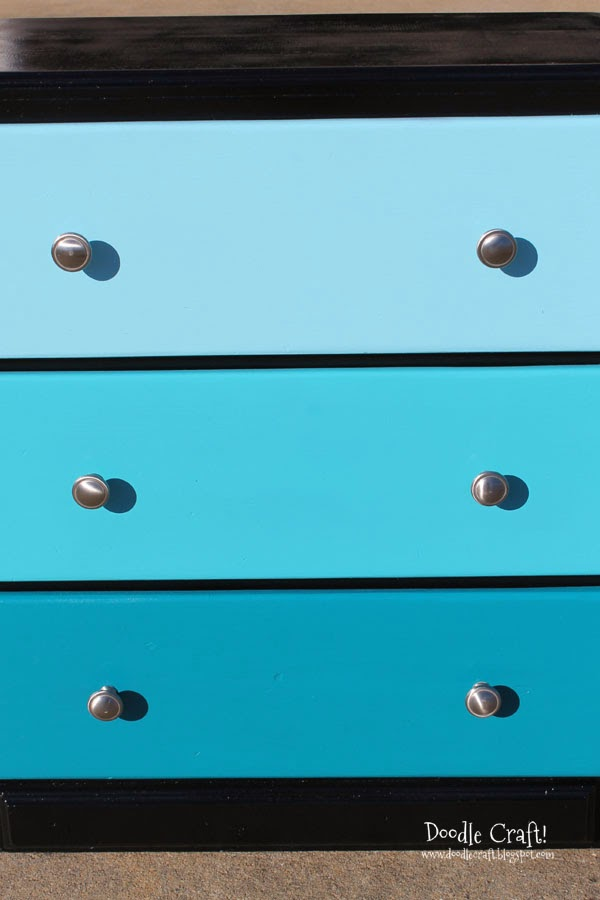 Doodlecraft Aqua Ombre Chest Of Drawers