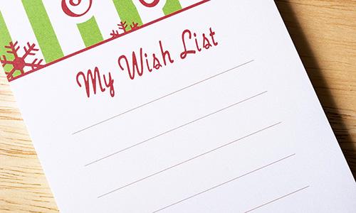 Lista de deseos para el Black Friday