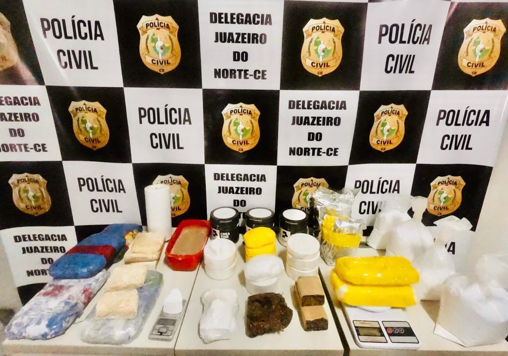 Polícia Civil fecha laboratório de drogas em Juazeiro do Norte; foram aprendidos mais de 12 kg de entorpecentes