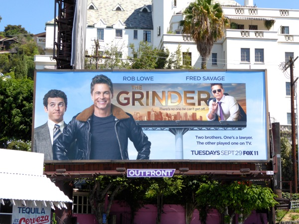 The Grinder series launch billboard