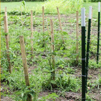 Building Trellis Supports For Tomato Plants | On The Creek Blog