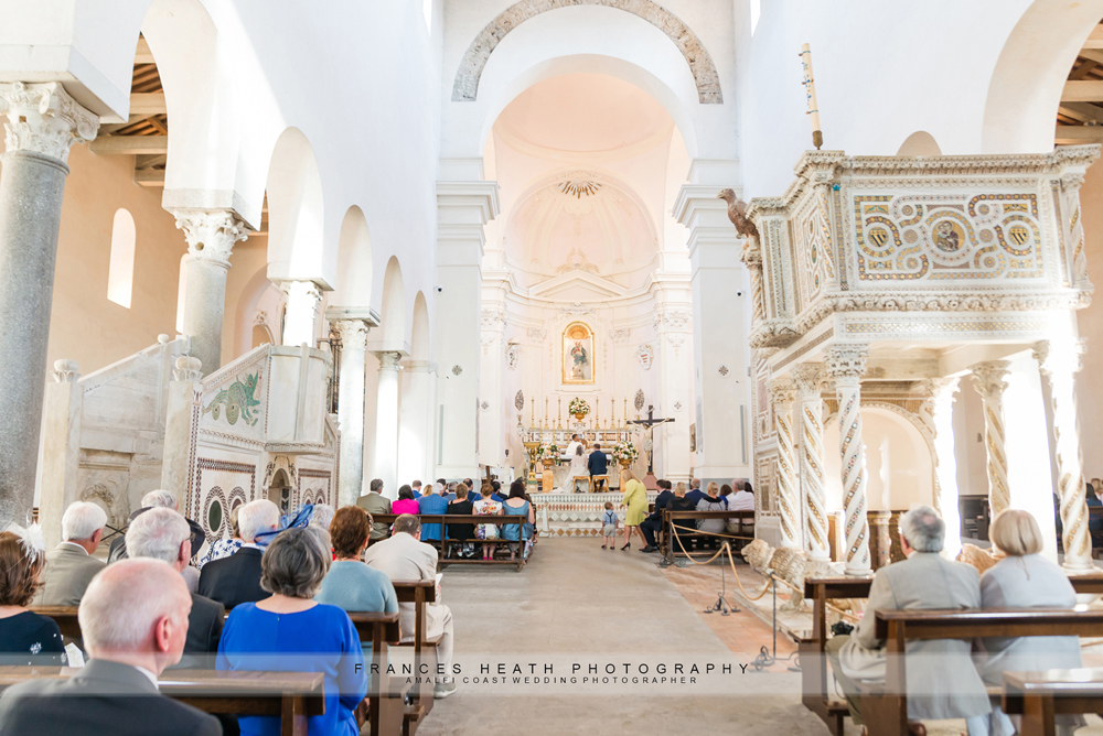 Catholic wedding ceremony in Ravello