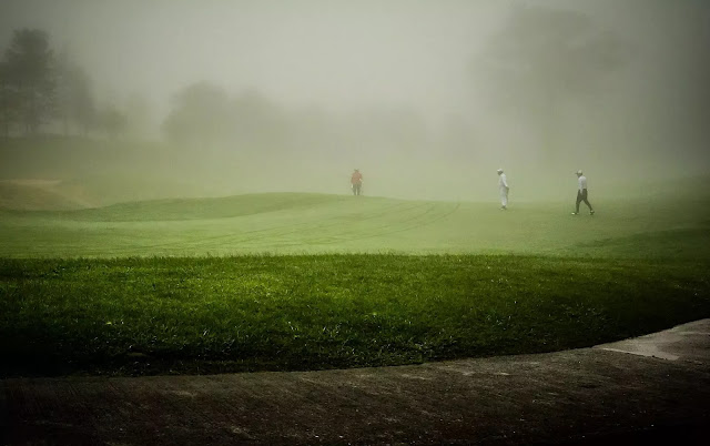 Golf During Foggy Day Baguio City Cordillera Administrative Region Philippines