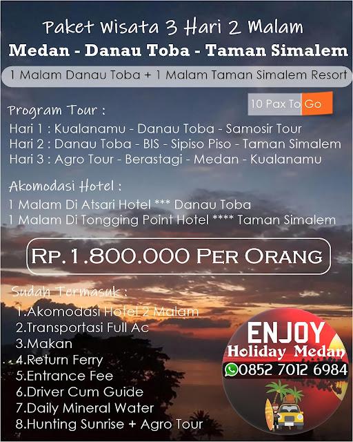 Paket Wisata Taman Simalem Resort Medan 3D2N