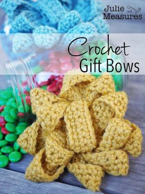 crochet gift bows