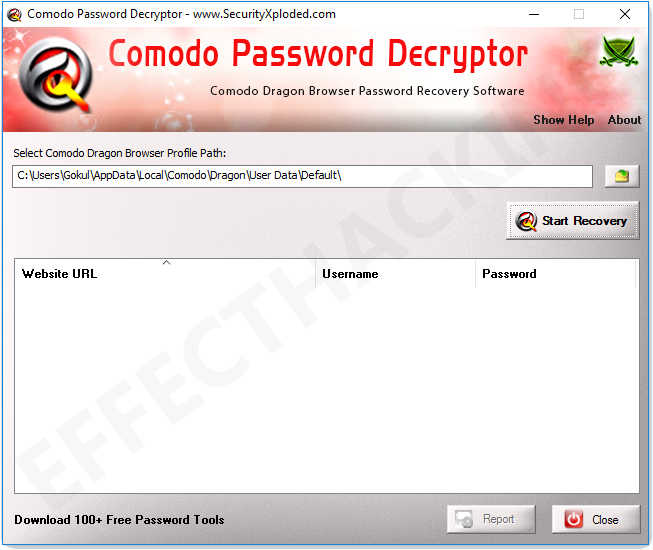 Comodo Password Decryptor Screenshot