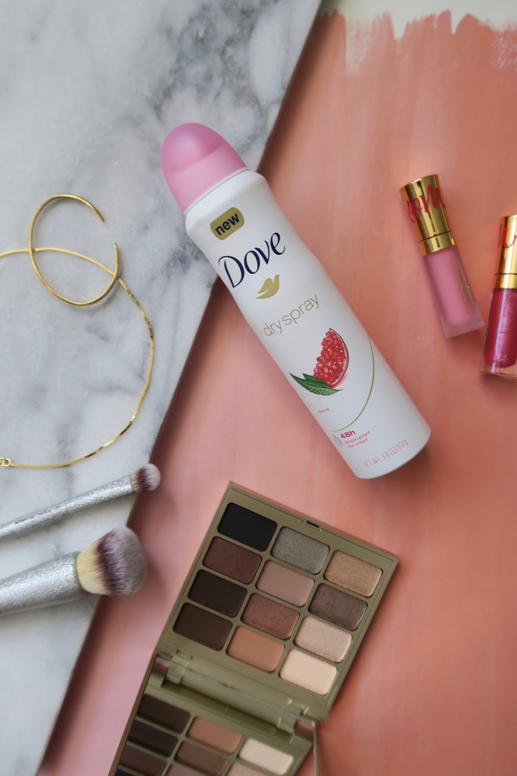 dove dry spray, workout
