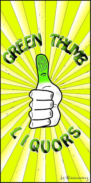 Green Thumb Liquors sign (by @sciencemug)