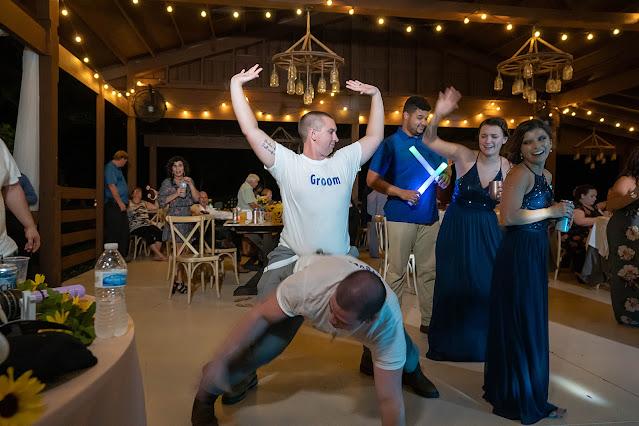 Goofy Groom Reception dance Magnolia Manor Wedding Photos by Stuart Wedding Photographer Heather Houghton Photography