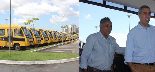 Senador Canedo: Prefeito participa de entrega de ônibus escolares