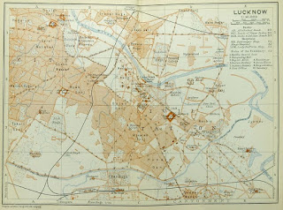 old map on Lucknow ,18 century map of Lucknow
