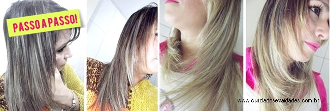 Clarear as pontas do cabelo com o pente