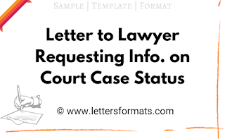 Letter to Lawyer Requesting Information on Court Case Status