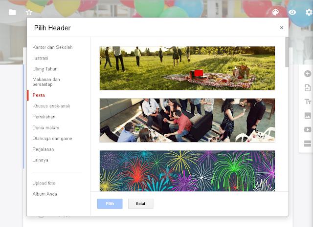 Membuat google form undangan pesta terlihat jauh lebih menarik